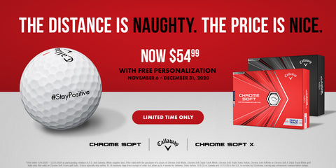 Callaway Personalized Holiday Golf Ball PROMO