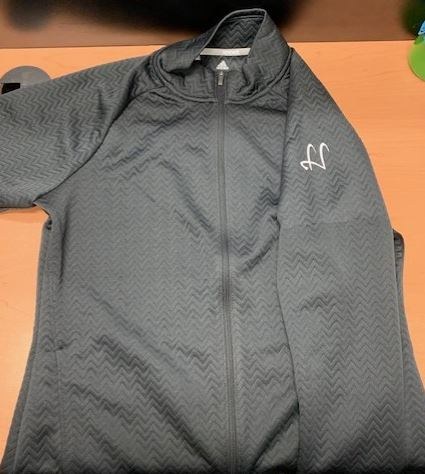 Adidas Textured Highlands Logo Fullzip Fleece
