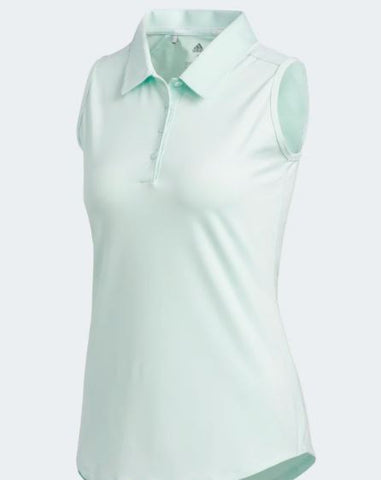 Adidas Ultimate 365 Sleeveless Dash Green Polo