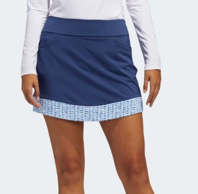 Adidas Ultimate365 Printed Knit Tech Indigo Skort