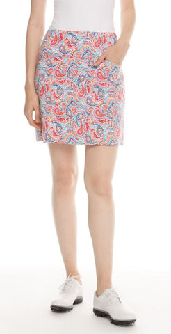 Swing Control Bright Paisley Masters Skort