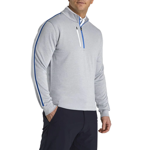 FootJoy Tonal ML Heather Grey 1/2 Zip Pullover