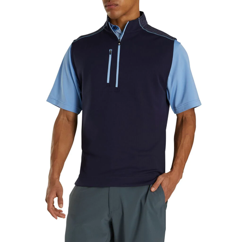 FootJoy Heather Navy Blocked 1/4 Zip Vest