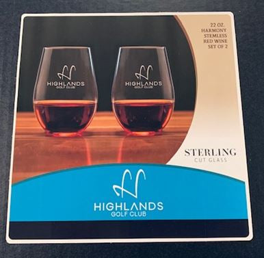 Highlands 22oz Harmony Stemless Wine Glass (Set of 2)