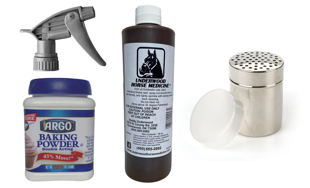 Underwood Horse Medicine All-in-One Topical Horse Wound Spray Kit