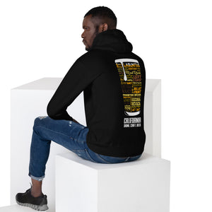 California - Back Pint Unisex Hoodie