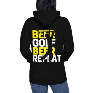 Beer, Golf, Repeat - Unisex Hoodie