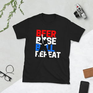 Beer, Baseball, Repeat - Unisex Shirt