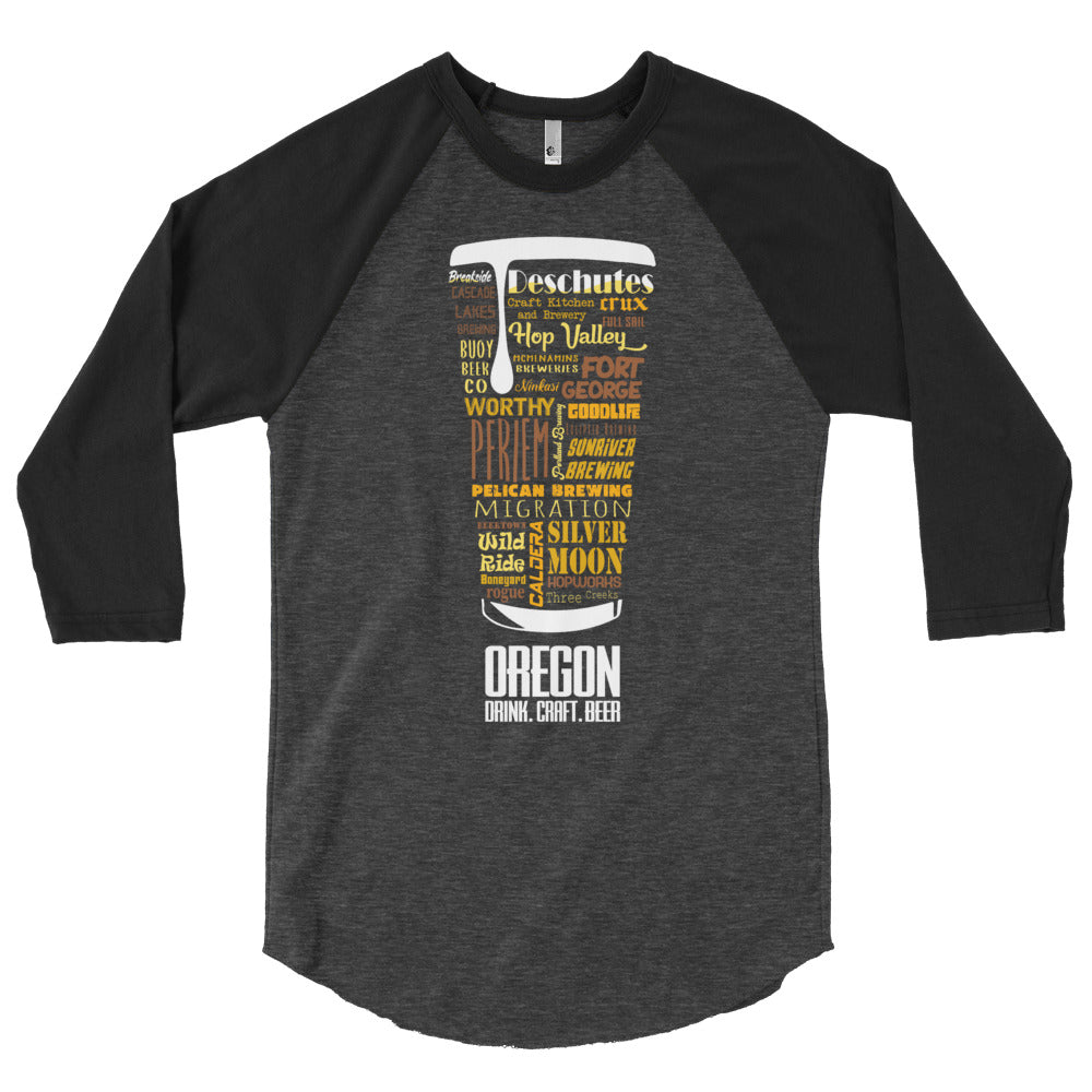 Oregon - Front Pint 3/4 Sleeve