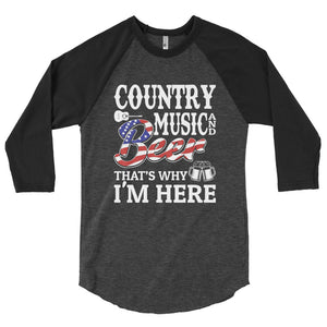 Country Music & Beer - 3/4 Sleeve