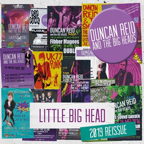 DUNCAN REID AND THE BIG HEADS - Little Big Head (UK Ltd.Marble Vinyl LP/New)