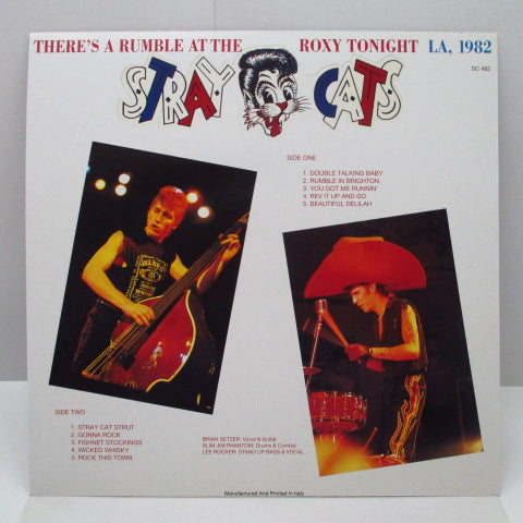 STRAY CATS - There's A Rumble At The Roxy Tonight (Italy RE LP)