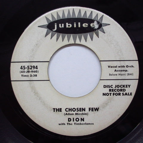 DION & THE TIMBERLANES - The Chosen Few (Jubilee Promo)