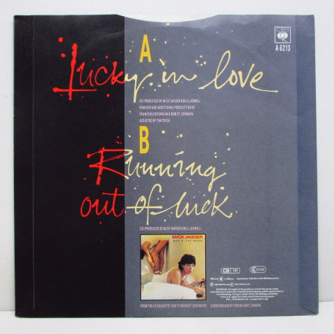 MICK JAGGER - Lucky In Love (UK PROMO+PS)