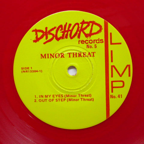 "MINOR THREAT - In My Eyes (US Orig.Red Vinyl 7"")"