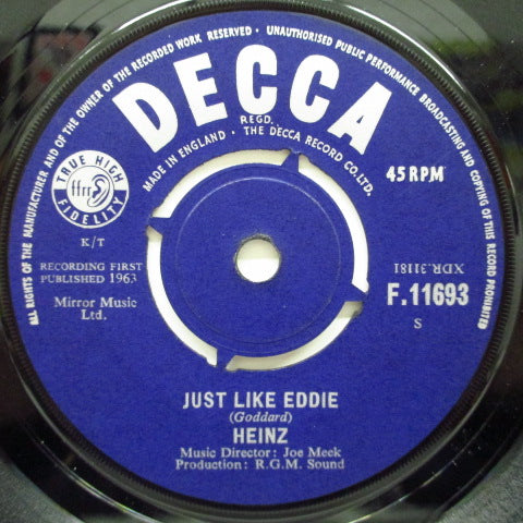 "HEINZ - Just Like Eddie (UK Orig.7"")"