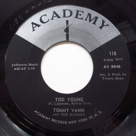 TOMMY VANN & THE ECHOES - Too Young (Orig.Black & Silver Label)