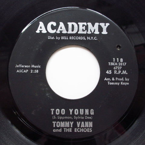 TOMMY VANN & THE ECHOES - Too Young (2nd Press Black Label)