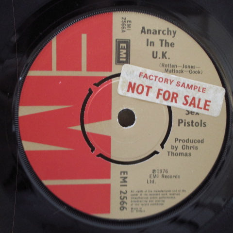 "SEX PISTOLS - Anarchy In The U.K. (UK 2nd Press Promo Stickered Lbl.7""/CS)"