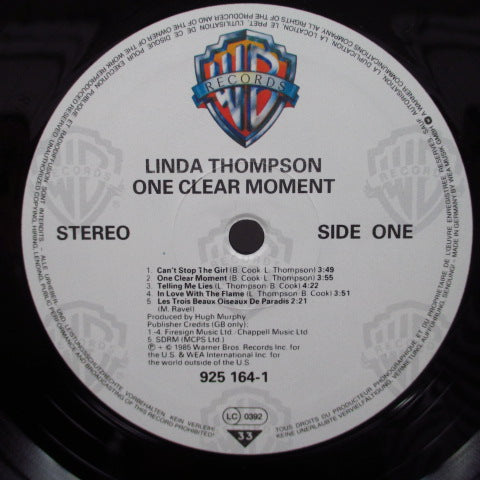 LINDA THOMPSON - One Clear Moment (German Orig.LP)