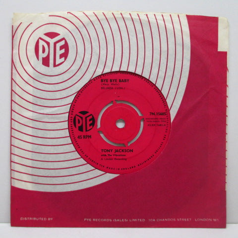 "TONY JACKSON and The Vibrations - Watch Your Step (UK Orig.7""+CS)"