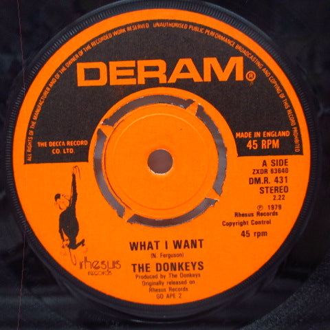 "DONKEYS, THE - What I Want (UK Reissue 7""/Dream DM.R 31)"