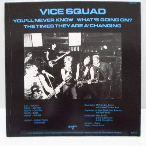 "VICE SQUAD - You'll Never Know (UK Orig.12"")"