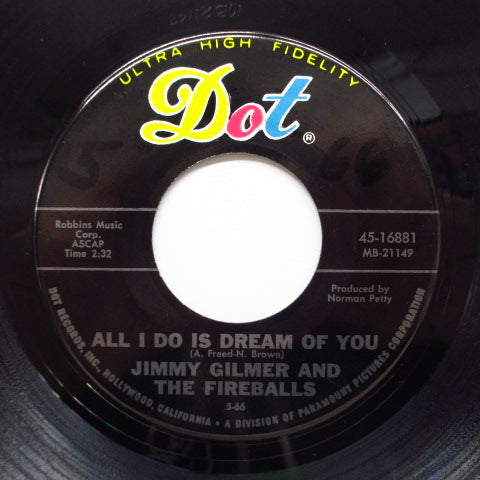 JIMMY GILMER AND THE FIREBALLS - All I Do Is Dream Of You (Orig)