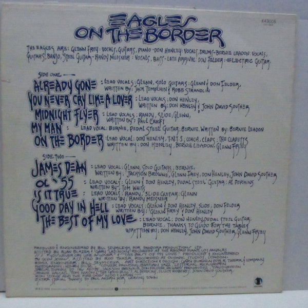 EAGLES - On The Border (UK 70'S Re W Logo Lbl.LP/Texture CVR)