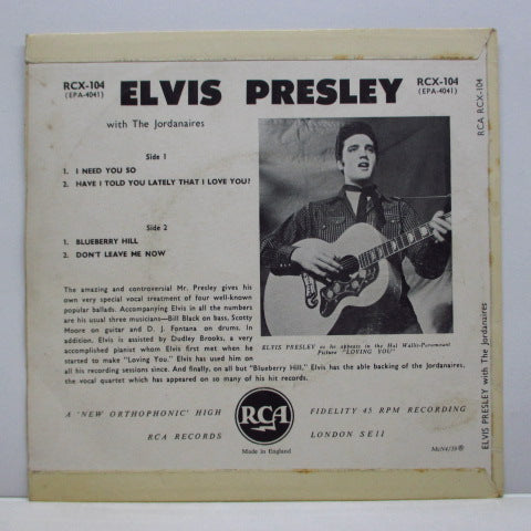 ELVIS PRESLEY - Elvis Presley (UK Orig.EP/2nd Press CS)