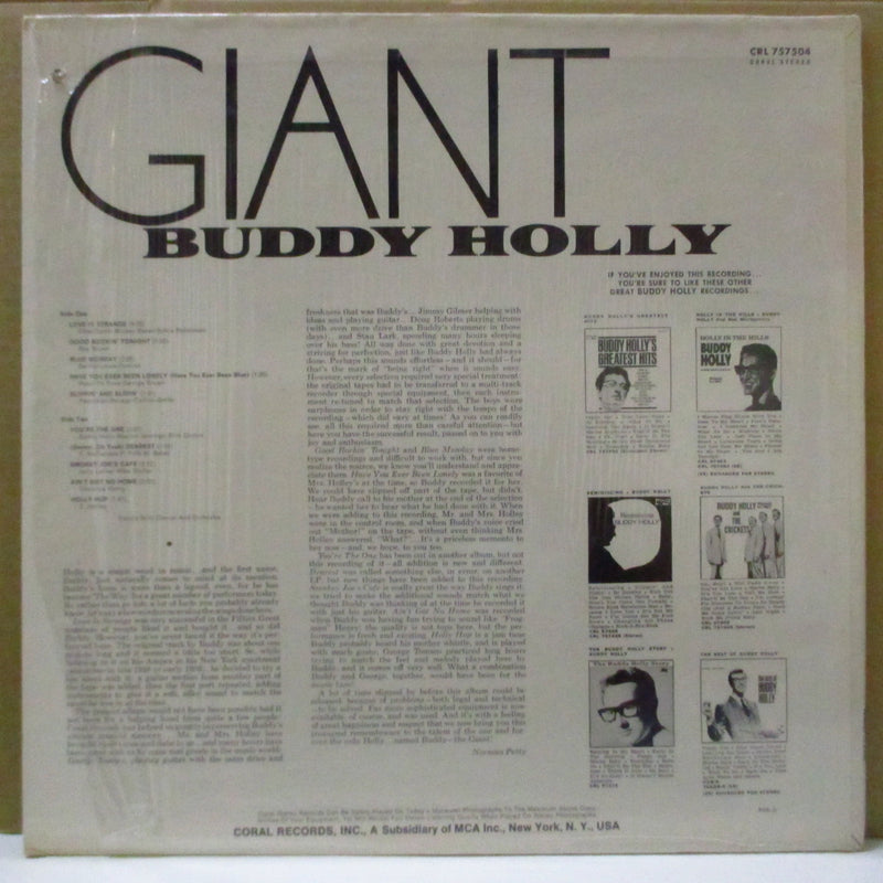 BUDDY HOLLY - Giant (US Orig.Stereo LP)