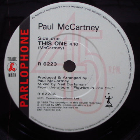 "PAUL McCARTNEY - This One (UK Orig.Paper Lbl.7""+Glossy PS)"
