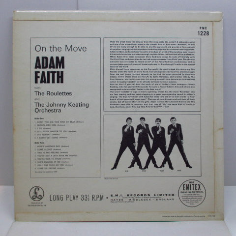 ADAM FAITH WITH THE ROULETTES - On The Move (UK Orig.Mono LP/CFS)