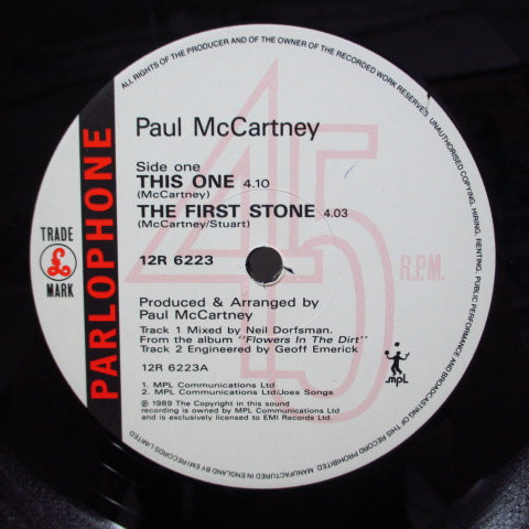 "PAUL McCARTNEY - This One (UK Orig.12""/Color Sleeve/12R-6223)"