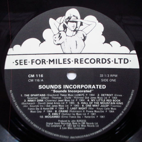 SOUNDS INCORPORATED - Sounds Incorporated (UK Re LP/Black & White Lbl.)
