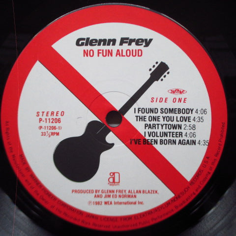 GLENN FREY - No Fun Aloud (Japan Orig.LP)