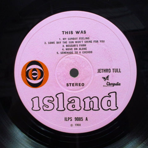 JETHRO TULL - This Was (UK Orig.Red Ball Pink Lbl.Stereo LP/CGS)
