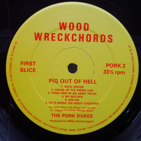 PORK DUKES, THE - Pig Out Of Hell (UK Orig.LP)