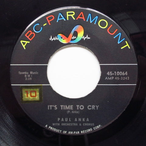 PAUL ANKA - It's Time To Cry (US Orig+PS)