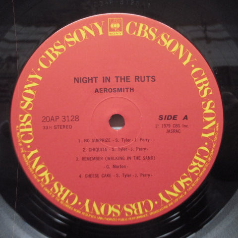 AEROSMITH - Night In The Ruts (Japan Reissue LP)
