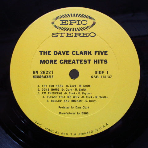 DAVE CLARK FIVE - More Greatest Hits (US Orig.Stereo)