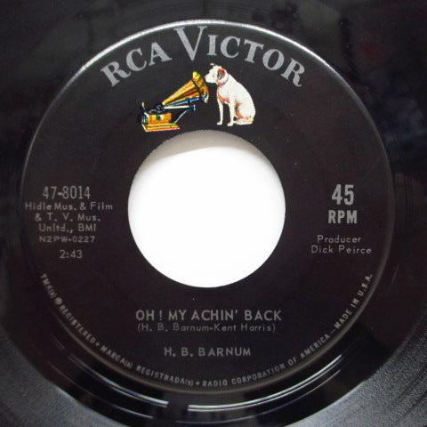 H.B.BARNUM - Oh! My Achin' Back / Call On Me