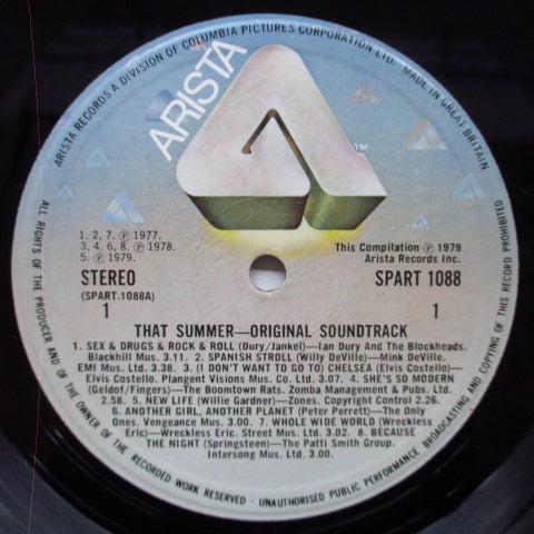 O.S.T. - That Summer (UK Orig.Black Vinyl LP/Stickered GS)