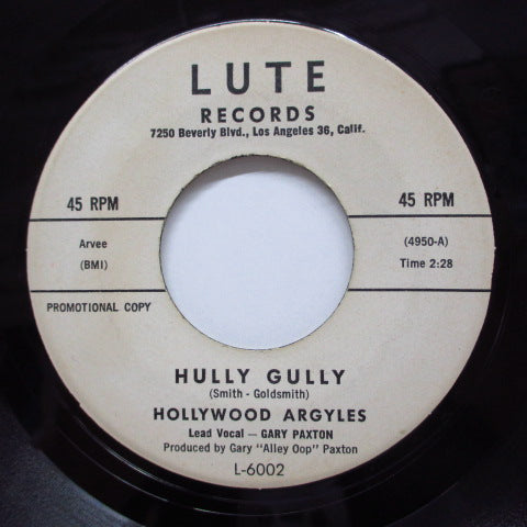 HOLLYWOOD ARGYLES - Hully Gully / So Fine (Promo)