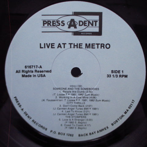 V.A. - Live At The Metro (US Orig.LP)