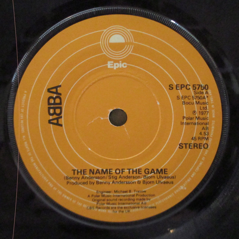 "ABBA - The Name Of The Game (UK Orig.7""+CS)"