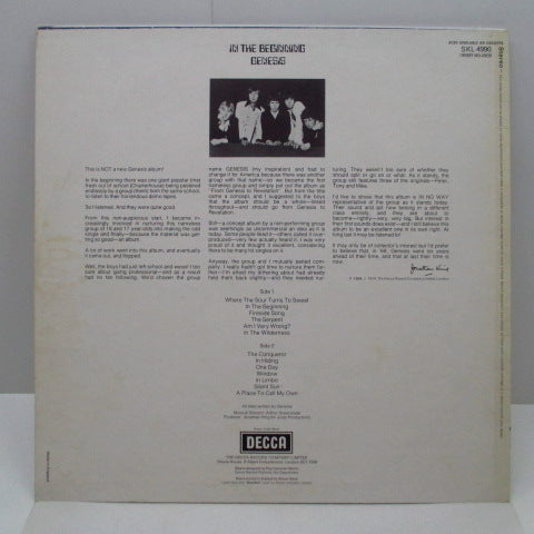 GENESIS - In The Beginning (1st) (UK '74 Re Stereo LP/Diff CS)