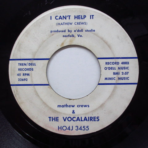 VOCALAIRES - I Can't Help It (Orig)