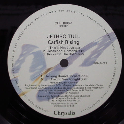 "JETHRO TULL - Catfish Rising (UK Ltd.LP+12""/Stickered CVR)"