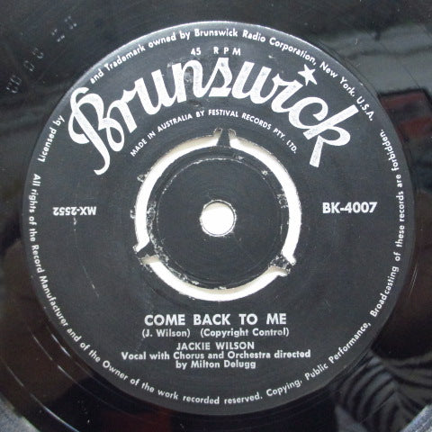 JACKIE WILSON - Come Back To Me (OZ Orig)